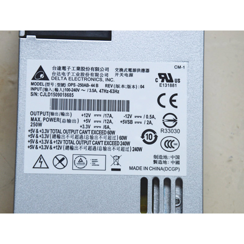 Power Supply DELTA DPS-250AB-44 B for PC