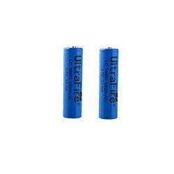 2 PCS UltraFire 18650 3.7V Rechargeable Li-ion Battery 3800mAh Blue T8 (Rechargeable button top Li-i