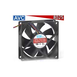 AVC 8025 8cm 4-Pin/Wire CPU Cooler Case Fan DA07015R12U-P064