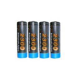 4 AA 2300mAh Ni-MH Rechargeable Battery